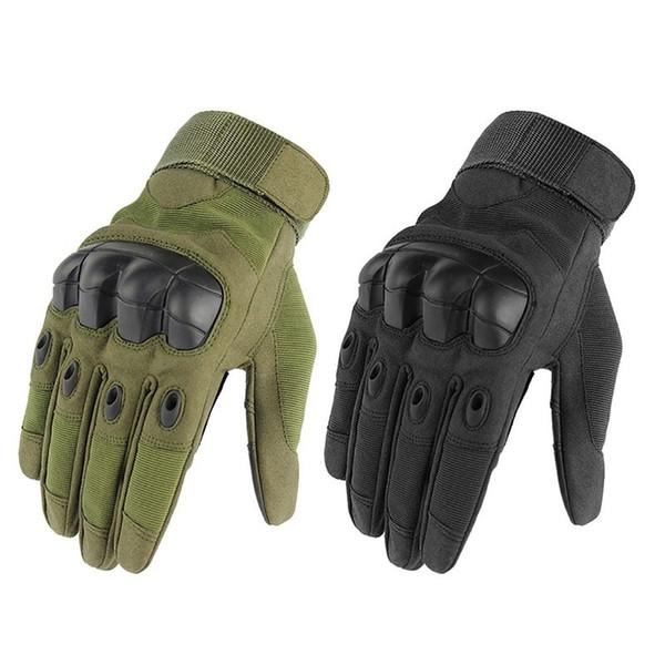 Hohe Qualität Sport Outdoor Gummi Harte Knöchel Taktische Touchscreen Vollfinger rutschfeste Radfahren Motorrad Racing Handschuhe