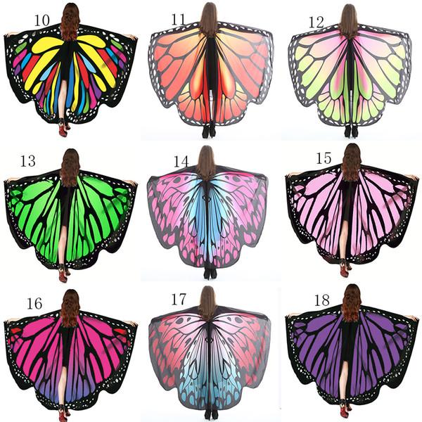 best selling Multi-style 135*168cm Robes big girls cloak Bohemia Printed Beach Towels cartoon Butterfly Design Beach Shawl Yoga Mat 31 colors cape C4058