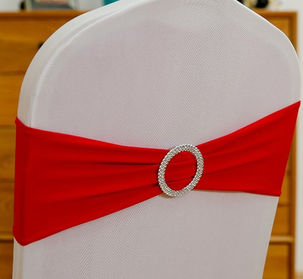 Spandex Lycra Wedding Chair Cover Sash Bands Wedding Party Birthday Chair Decoration DHL Free Shipping LLFA