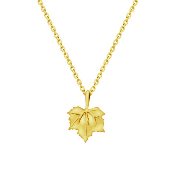 9cbc976460 10pcs 1lot Gold Silver Color Canada Maple Leaf Necklace for Women Leaf  Charms Sweater Chain Necklaces Pendants