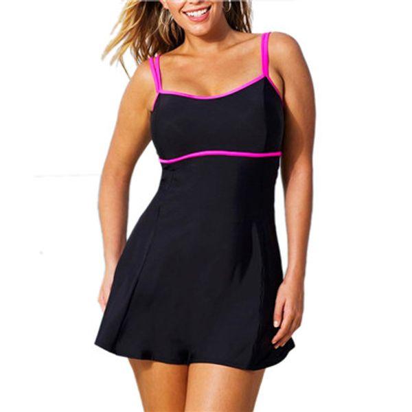 Maillot de bain une pièce d'été maillot de bain jupe de maillot de bain string maillot de bain femmes brésiliennes maillot de bain noir Vintage Monokini, plus la taille L-3XL