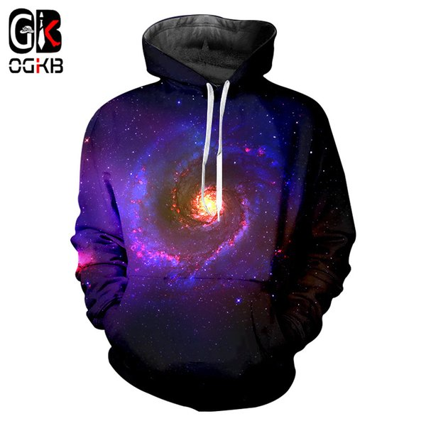 OGKB 2018 Hot Sale Men Hoodies Fashion Paislet Space 3d Print Hooded Jacket Streetwear Casual Sweatshirt Plus Size 6xl Harajuku