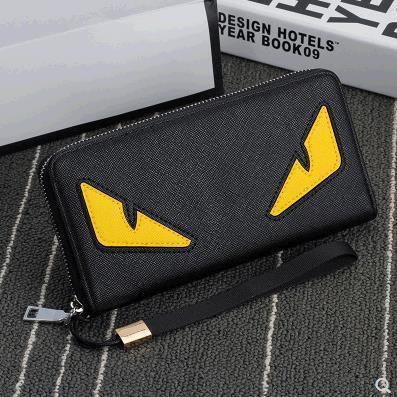 2019 new fa hion men brand de igner coffee wallet leather long wallet luxury leather clip folder men money pur e, Red;black