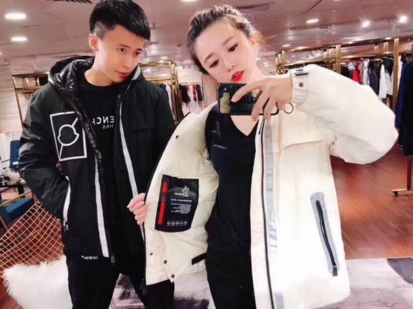 2018 new couple models Moncler88 short hooded feathers filled warm down jacket men and women can wear fashion thick coat
