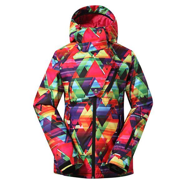 Ms. GSOU SNOW Ski Suit Single Double Board Waterproof Windproof Breathable Warm Anti Ultraviolet Ski Coat For Women Assault Suit