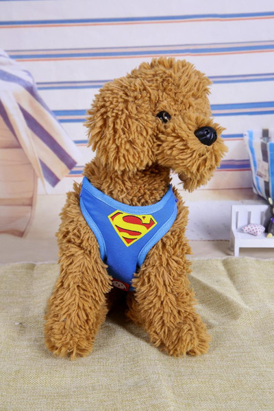 Hot Sale Super Hero Dog Harnesses Collar Flashers Pet Leashes Fashion Teddy Adjustable Strap Vest Collar Car Seat Belt Pet Traction Rope