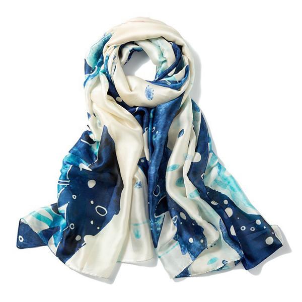 Wholesale 180cm*90cm 11 Designs Artificial Silk Designer Scarf Women Hijab Shawls Pashmina Head Wrap Scarf Table Blanket Beach Towel