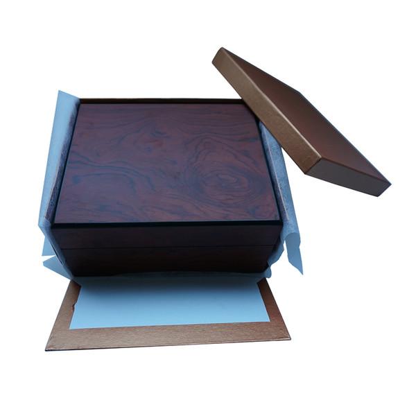 2019 neue Design Holzfarbe Uhr / Luxus Artikel Paket CustomizePrint Logo Box Organizer Lagerung Uhr Fabrik zu fördern Boxen DHgate Best