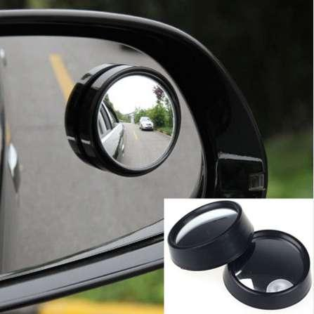 2PCS universal Driver 2 Side Wide Angle Round Convex Car Vehicle Mirror Blind Spot Auto RearView for All Car Styling