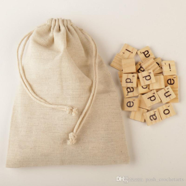 best selling 100pcs in Set Vintage Wood Scrabble Letter Tiles Wooden Letter Tiles Educational Crossword Puzzle Numbers Crafts Wood Alphabet Toy Crafting