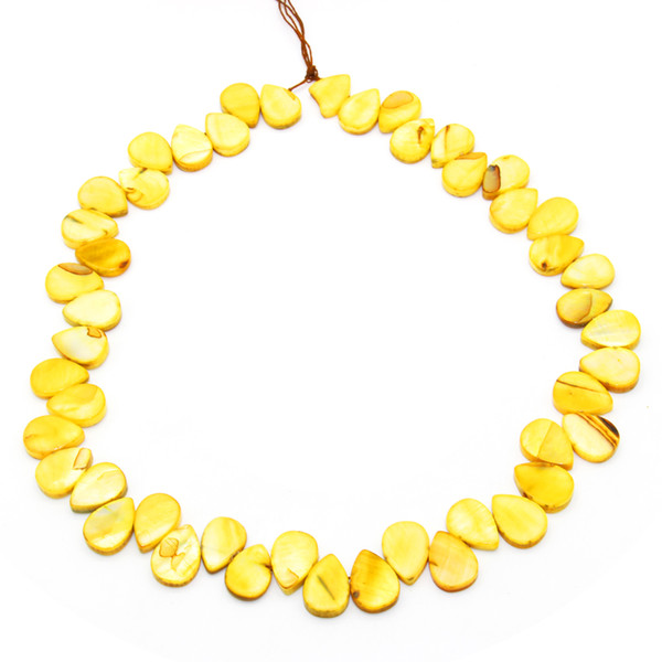 top popular 2018 fashion charm jewelry natural freshwater shell pieces yellow oyster shell beads earrings necklace accessories wholesale 2021