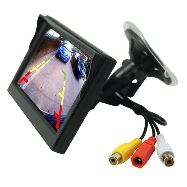 wholesale 5inch Digital Display Windshield LCD Car Monitor For Reversing Backup Camera DVD VCR SKU:4574