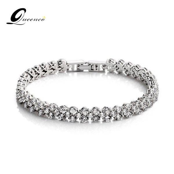 Rose Gold / White Bridal Bracelet Fashion Charm Bracelets For Women Zircon Bangles Fashion Wedding Jewelry