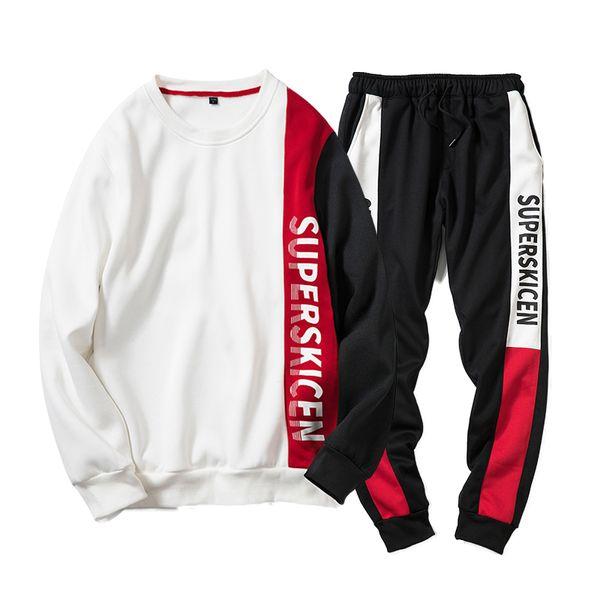 Autumn Men Sporting Suit Hoodies+Pant Lovers Sweatsuit Two Piece Set Moleton Masculino Pullover Tracksuit Set For Men Clothing