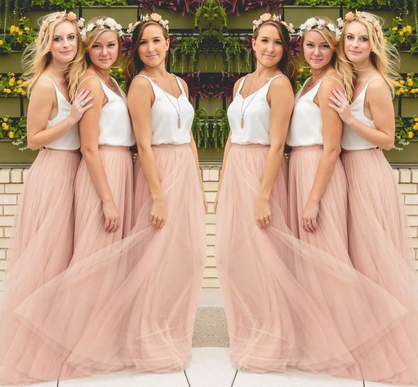 7c14c6a751 Hot Sale Cheap Underskirt Bridesmaid Dresses Tulle Skirt Blush Prom Dresses  Bridesmaid Maxi Skirt Evening Party Gowns HY249