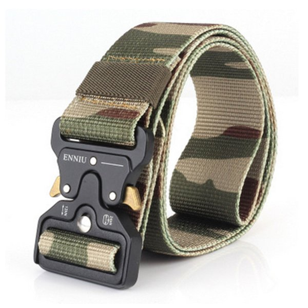 Tactical Nylon Belts Army Special Forces Mens SWAT Gear Combat Metal Insert Buckle Survival Training Belt