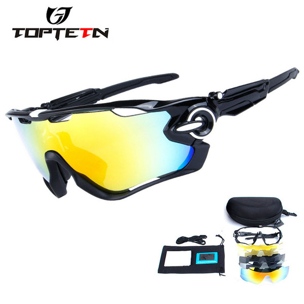 1d99170a9d 5 Lens Brand New Jaw Outdoor Sports Cycling Sunglasses Eyewear TR90 Men  Women Bike Bicycle Cycling Glasses Goggles