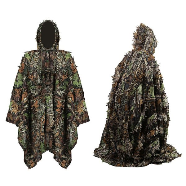 Camouflage Tactical Suit Hunting Clothes Outdoor Sport Sniper Clothing Army Combat Woodland Camo Ghillie Suit