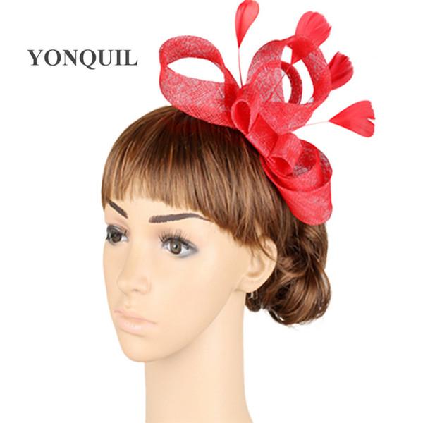 Free ship17 colors sinamay fascinators wedding accessories bridal veil party hats bridal fascinators 6Pcs/lot OF1522