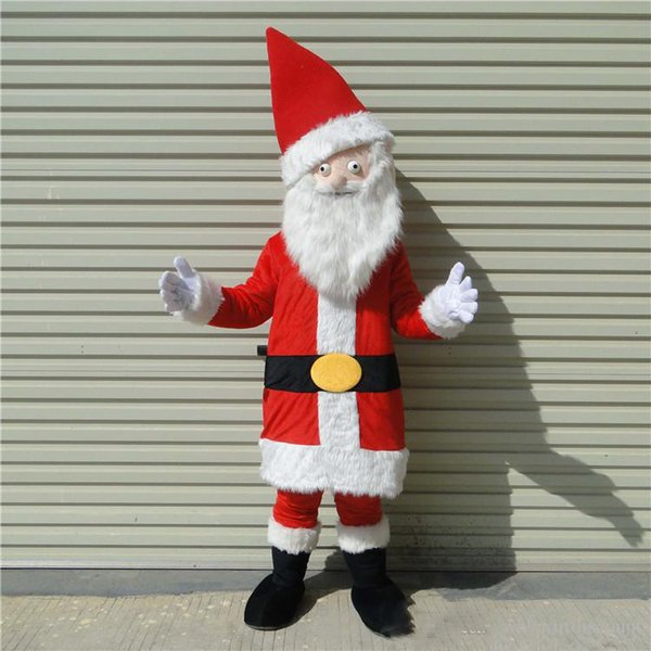 2018 Factory direct sale customized mascots high quality christmas santa mascot costume adlut Santa Claus outfits happy cartoon