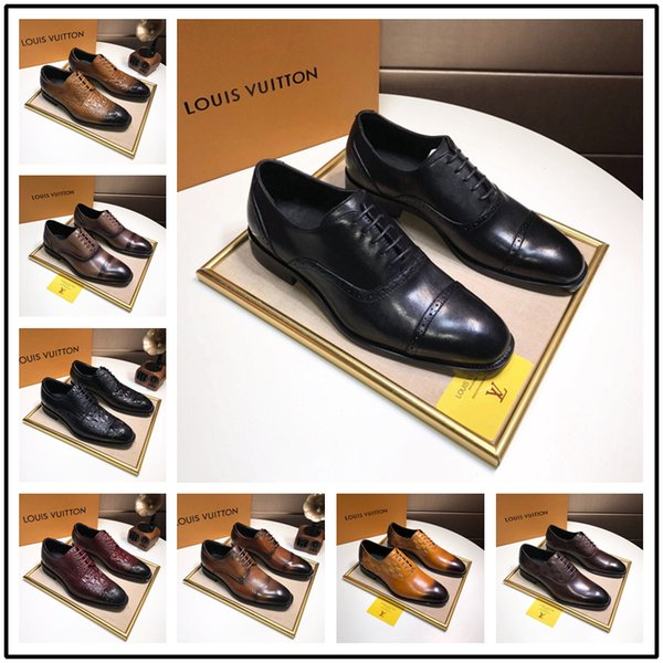 2018 Italy Brand mens pointed toe dress shoes luxury brand designer italian Patent Leather shoes man prom dress shoes