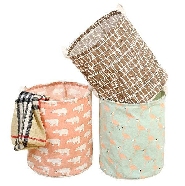 Cloth clothes basket can be folded and oversize clothes basket to hold clothes basket
