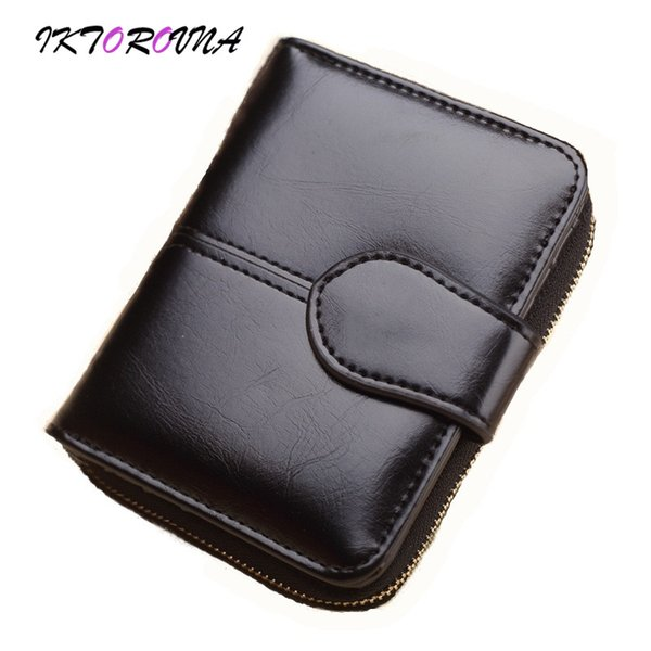 IKTOROVNA Women Wallet Fashion 2018 Leather Lady Short Wallets New Designer Female Money Purses Bags Carteras Y Bolsos De Mujer