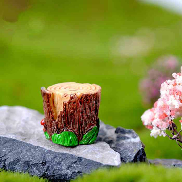 Pleasant 2018 Miniature Stump Stool Fairy Garden Accessory Decorated With Green Leaves On Bottom Dollhouse Moss Terrarium Decoration Handmade Resin Craft From Pabps2019 Chair Design Images Pabps2019Com