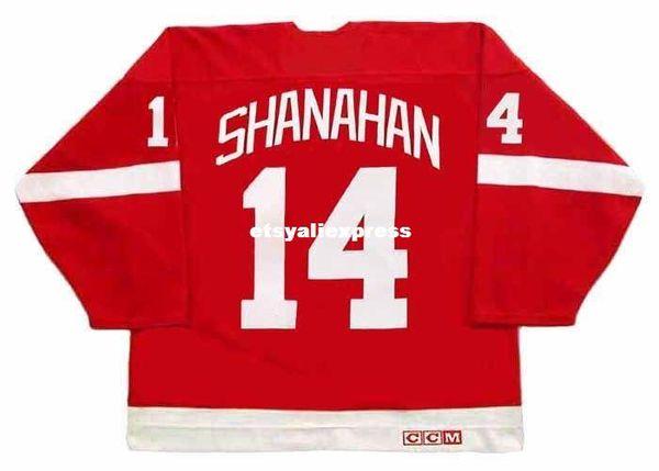 custom Mens BRENDAN SHANAHAN Detroit Red Wings 2002 CCM Jerseys Vintage Away Cheap Retro Hockey Jersey