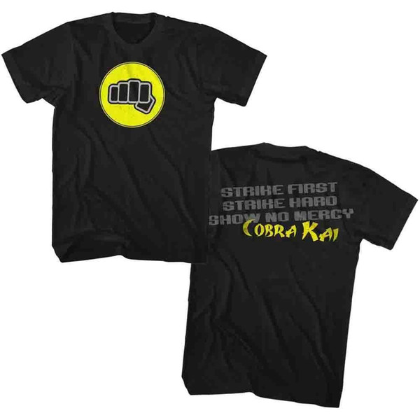 KARATE KID STRIKE FIRST BLACK ADULT Short Sleeve T-Shirt Mens 2018 fashion Brand T Shirt O-Neck 100%cotton