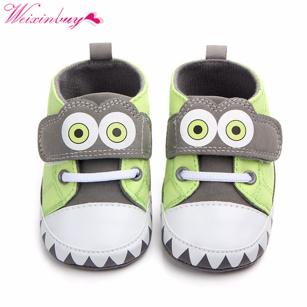 Classic Canvas Baby Shoes Spring Animal Cute 2 Color Baby Boy Shoes First Walkers Fashion Girl