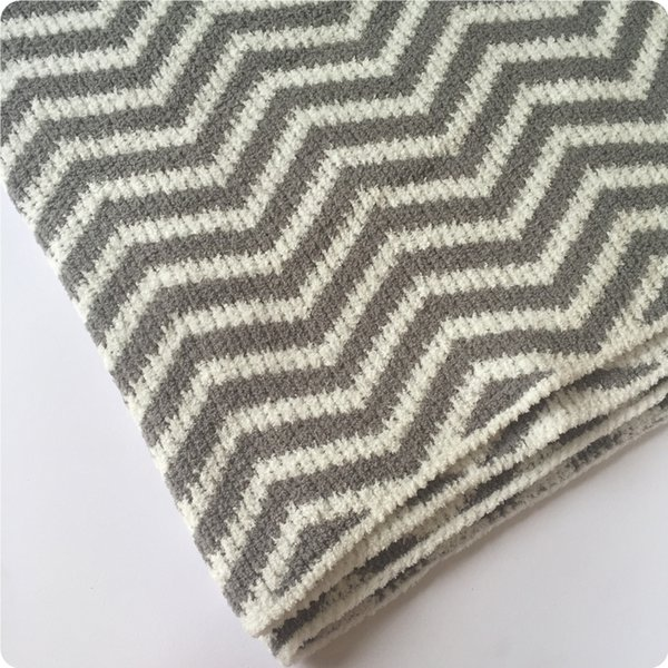 Pale Yellow Throw Blanket.100x75cm Grey White Deep Blue White Wave Pattern Soft Chenille Baby Blanket Knitted Throw Blanket Zigzag Thick Winter Velour Throw Pale Yellow Throw