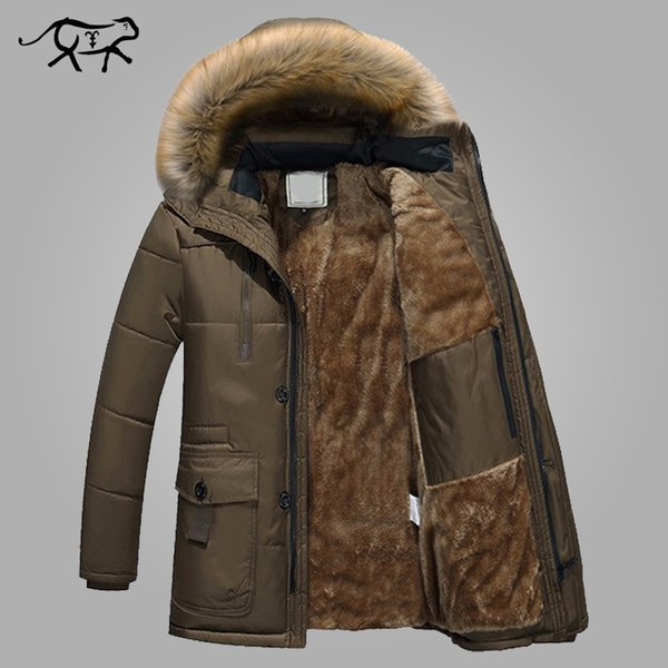 Parkas Men Brand Clothing Fashion Winter Jacket Men Thermal Hooded Thicken Warm Coat Casual Men Fur Hood Army Military Jackets C18111201