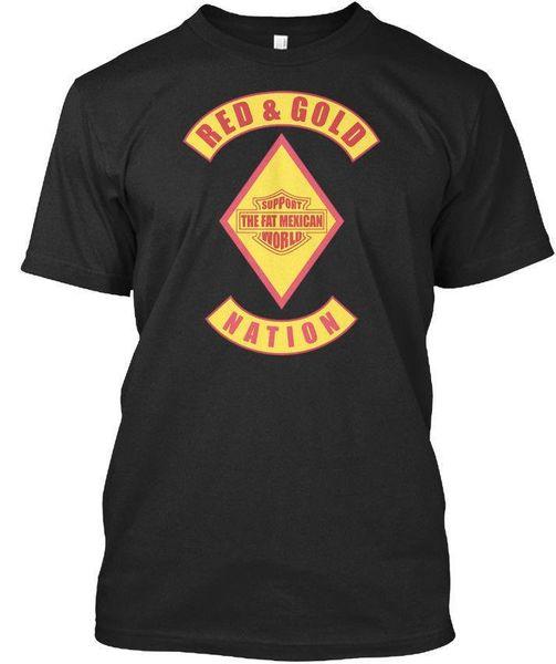 Red Gold Nation Bandidos Unterstützung Fett M - Das mexikanische Premium Tee T-Shirt