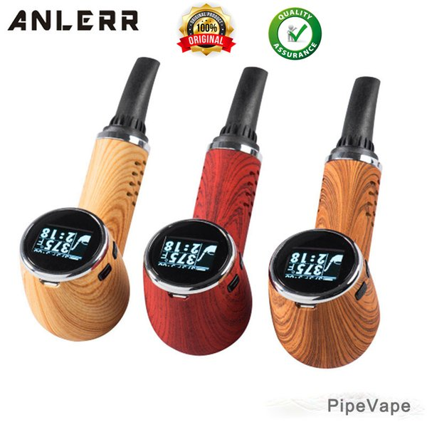 Anlerr Pipe Vape Dry Herb Vaporizer Kit Isolate Airflow Bake Pen Vape Pipe Temperature Control Ceramic Heating With OLED Screen free