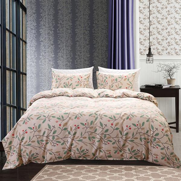 2018 vendita Boho tessuto in microfibra 3 pezzi copripiumino set floreale doppia regina re come l'immagine copripiumini casa in stile country set biancheria da letto