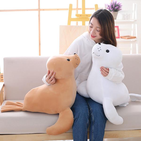 pop cute sea animal sea lion plush toy big stuffed gentle cartoon seal doll pillow for baby gift decoration 24inch 60cm DY61285