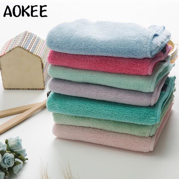 kids Absorbent Microfiber Fiber Square Hand Towel Small  Bath Towels 30*30cm.