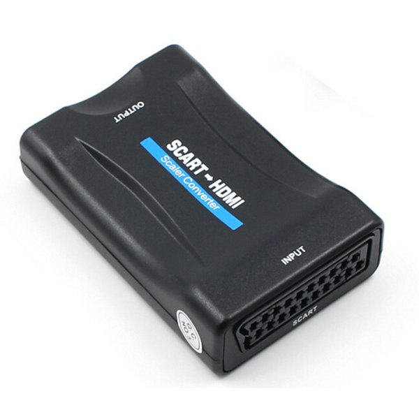 50pcs HDMI to Scart Converter AV Signal Adapter Receiver hdmi 1080P for MonItor PC Smart phone