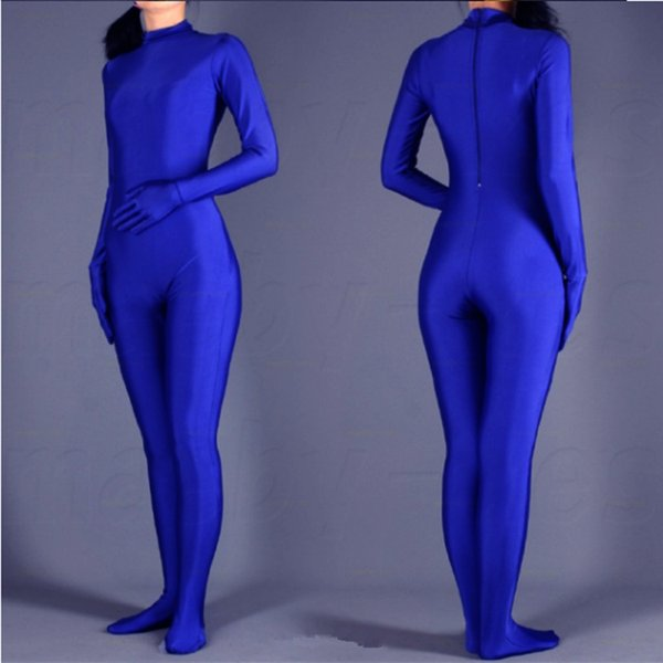 (SWH004) Blue Spandex Zentai Full Body Skin Tight Jumpsuit Zentai Suit Bodysuit Costume for Women/Men Unitard Lycra Dancewear