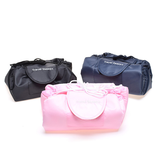 2018 Creative Korea Lazy Cosmetic Bag Large Capacity Portable Drawstring Storage Artifact Magic Travel Pouch Simple Cosmetic Bag