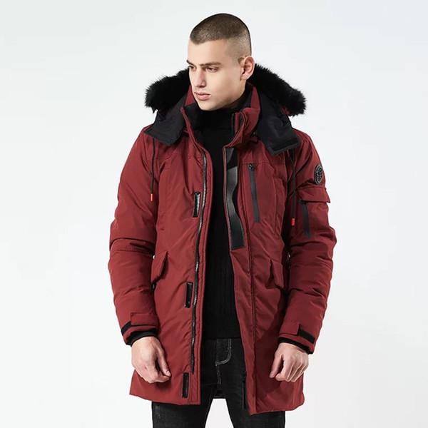 2018 Winter jackets for men fur hooded PARKA detachable warm wind breaker long stylish mens winter coats men parkas for russia