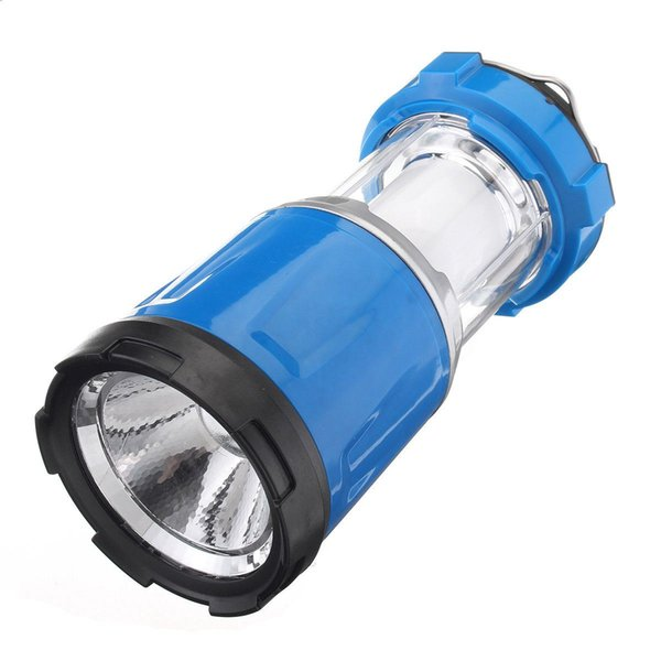 DC direct charging/Solar charging LED Lantern Indoor Outdoor Night Light Lamp Torch Camp, Blue