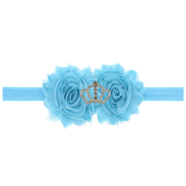 2pcs Headband hair boes Kids Polka Dot Bows Flower Ribbon Elastic Hairbands Girls Hair Accessory H139