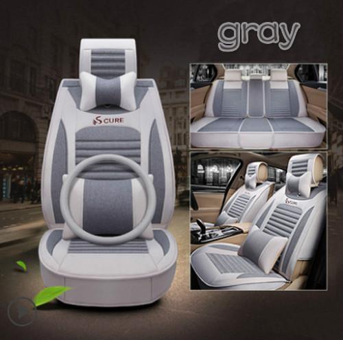 Yüksek kaliteli Araba koltuğu kapağı sonbahar ve yaz kaliteli keten tam set koltuk örtüsü her şey dahil dört mevsim genel modelleri