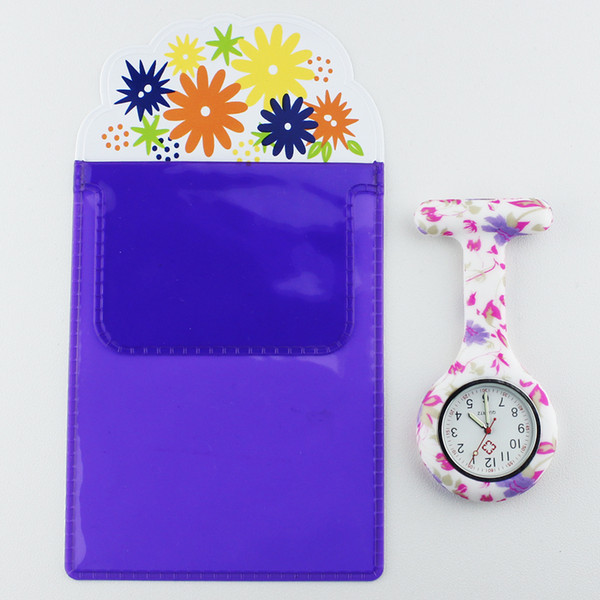 Watches Official Website Free Pencil Case Fob Silicone Nurse Watch Doctor Nurse Gift Butterfly Pattern Japanese Movt Brand Hospital Nurse Pocket Watch
