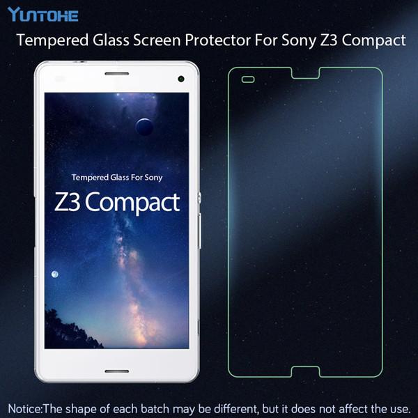 9H anti-choc film en verre trempé pour Sony Xperia Z3 compact protecteur d'écran 2.5D anti-explosion pour Sony Z3 compact 50pcs / lot