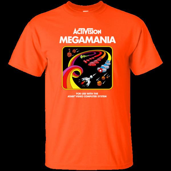 메가 마니아, Activision, 카트리지, 게임, 아타리, 2600, 2900, 레트로, 비디오, 게임, 재미있는 유니섹스 캐주얼 티 선물