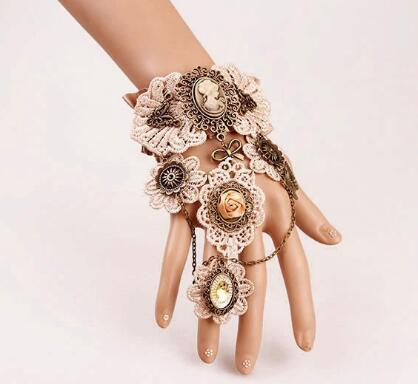 hot new European and American gothic lace vintage bracelet band ring exaggerated gear watch bracelet fashion classic elegant