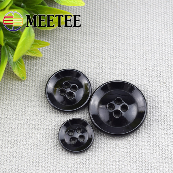 Meetee free shipping High-quality resin button trade four-hole plastic buttons for Coat suit jacket bags hats DIY crafts JCU-Y014
